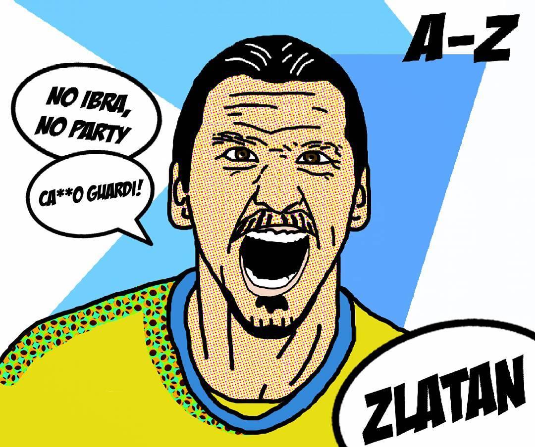 Simple pop music #zlatanibrahimovic :) #sweden #zlatan #ibrahimovic #popart #my …