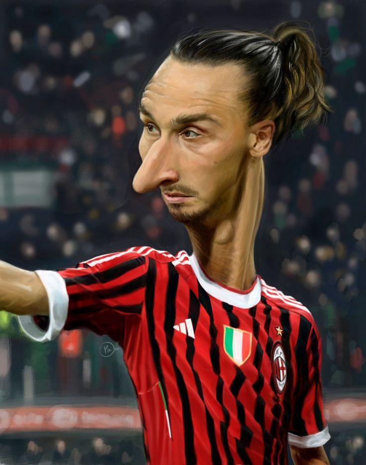Caricatura de Zlatan Ibrahimović