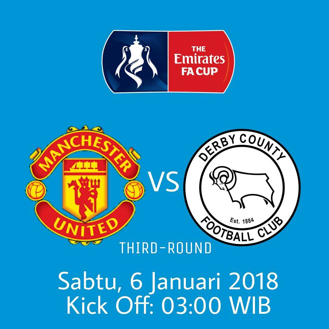 NEXT MATCH !!! . . EMIRATES FA CUP THIRD-ROUND Manchester United vs Derby County …