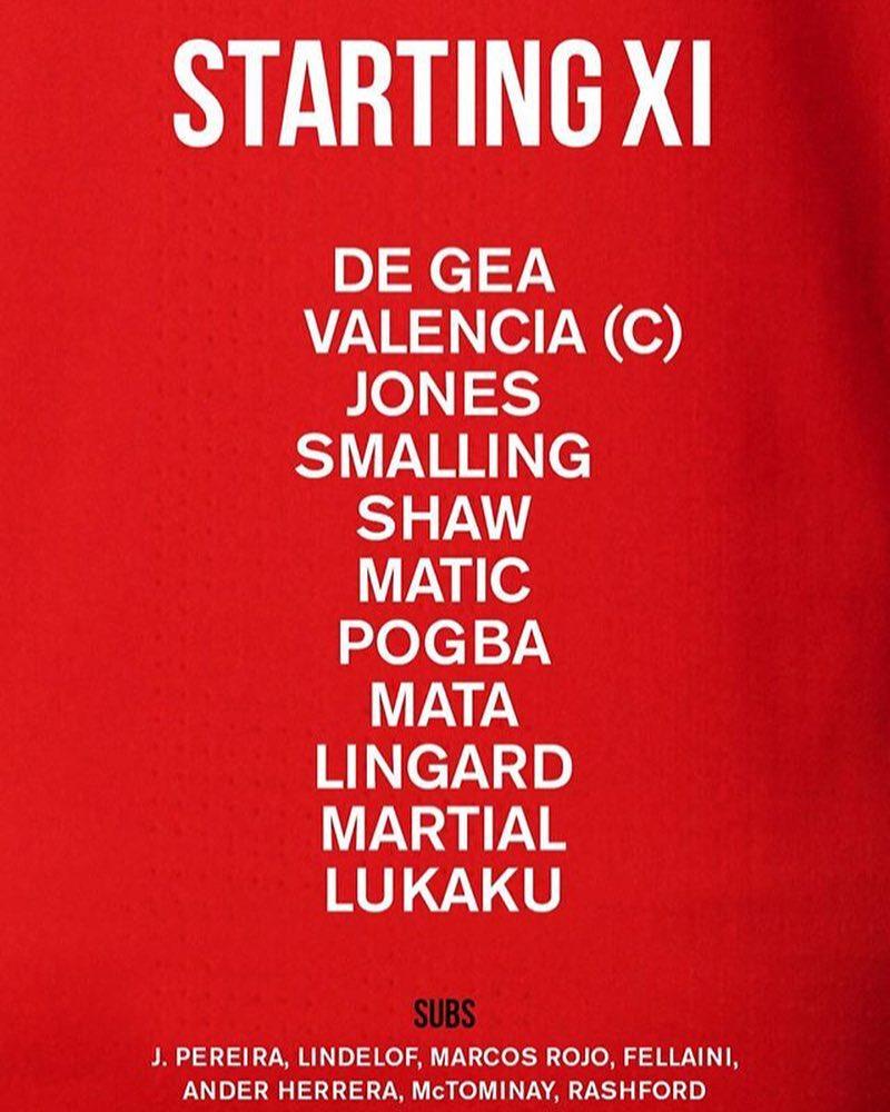 เริ่มต้น XI ไม่มีการอัปเดตจนถึงวันพรุ่งนี้ ติดตาม @ utd_fanpage_official #pogback #l …