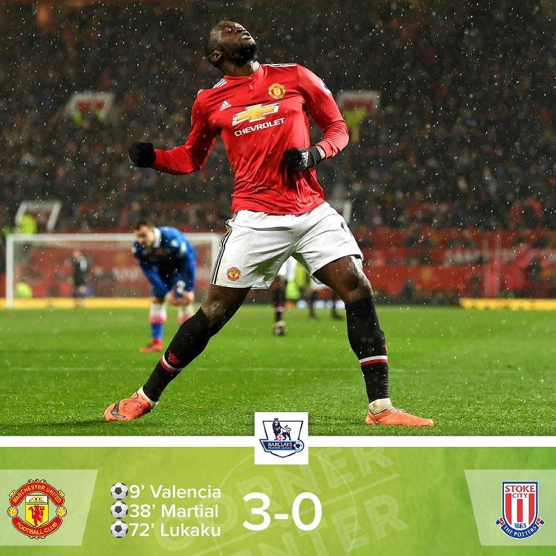 #ResultadoCorner ️ | #PremierLeague  | #ManchesterUnited 3-0 #StokeCity || …