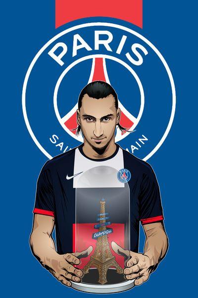 ฟุตบอลดาว: Zlatan Ibrahimovic พิมพ์ศิลปะ