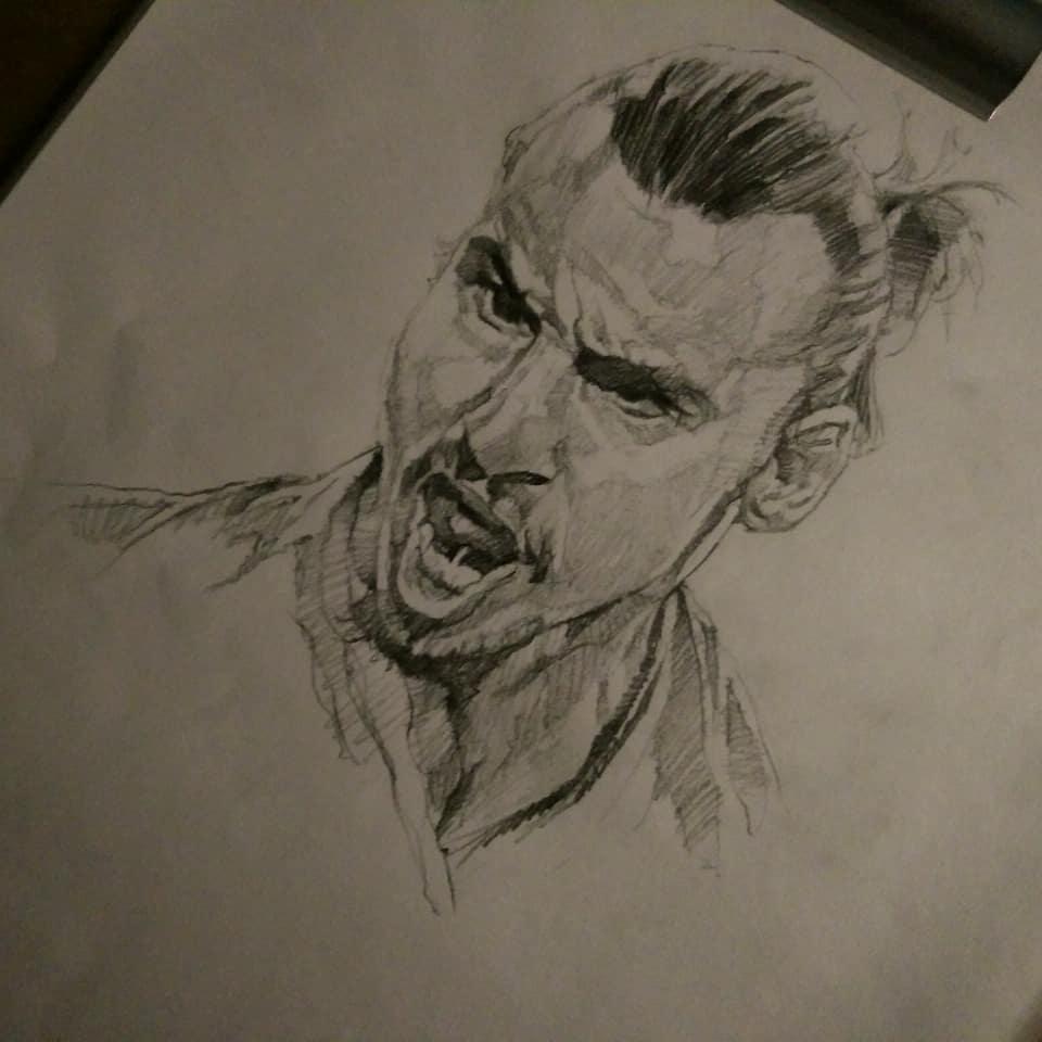 """""""Zlatan Ibrahimovic"""" ร่างฟรีดินสอ #sketching # sketchingart # sketchings #s …"""