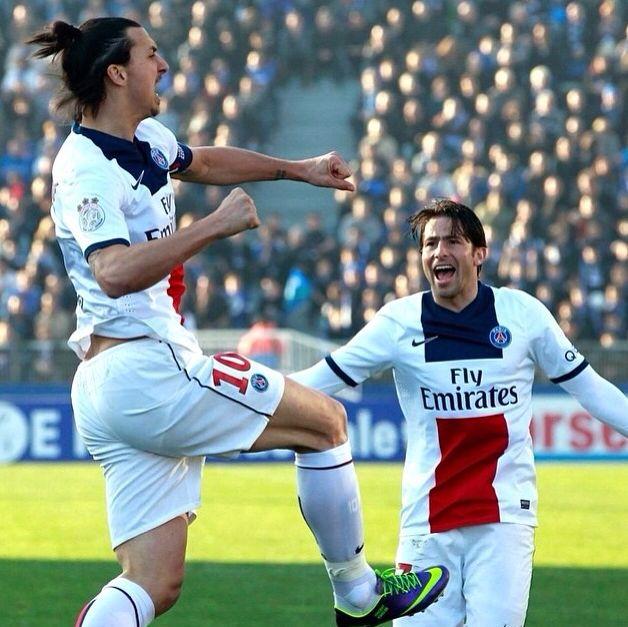 Maxwell และ Zlatan Ibrahimovic PSG