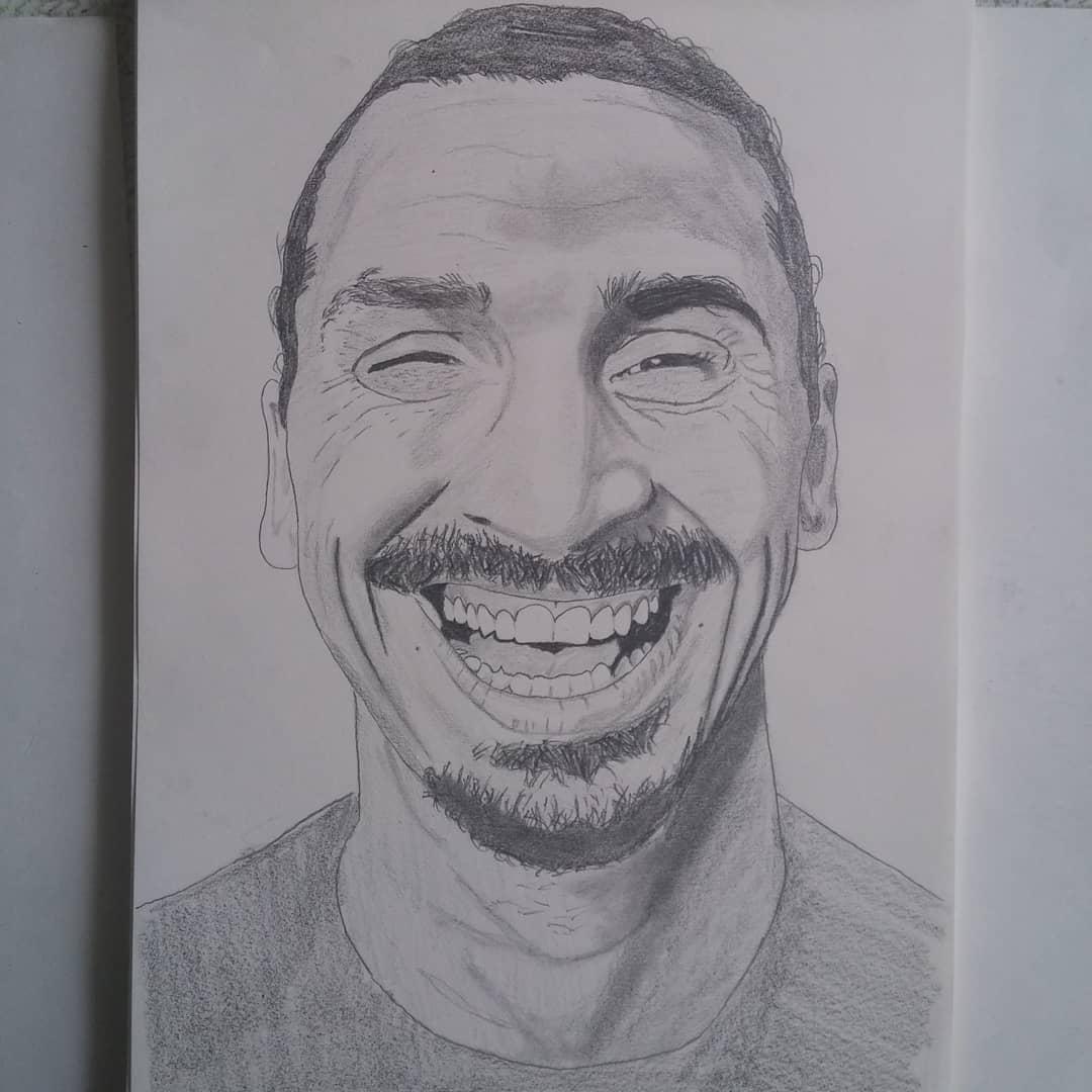 Zlatan Ibrahimovic หนึ่งในภาพวาดครั้งแรกของฉัน . . . . . . . . . . #artsy #artsho …