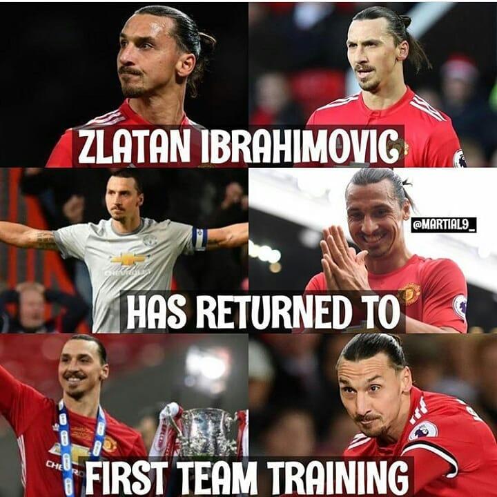 ไม่ได้รับบาดเจ็บครั้งสุดท้าย #zlatanibrahimovic #manchesterunited …