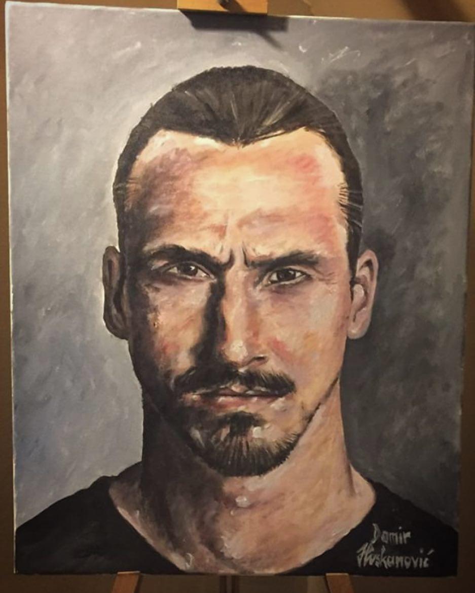 งานที่ยิ่งใหญ่ทำโดย @damirhuskanovic #zlatan #zlatanibrahimovic #art #drawi …