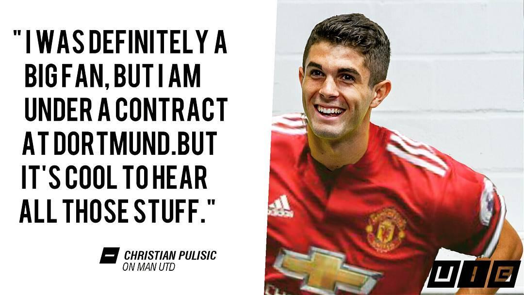 @cmpulisic อ้างว่าเป็นแฟนตัวยงของ United อนาคตของ United Player ?? . . .  # mufc # ggm …