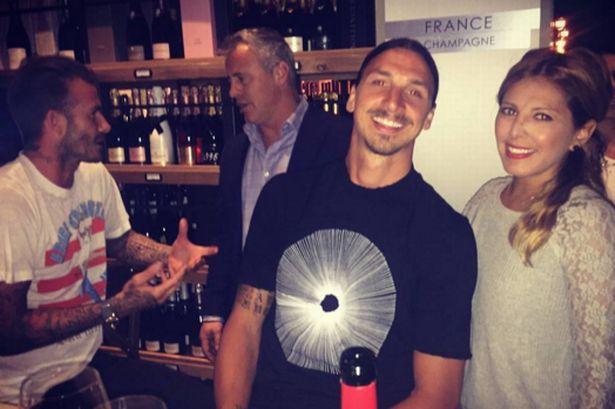 Zlatan Ibrahimovic และ David Beckham ออกไปเที่ยวพักผ่อนใน Beverly Hills