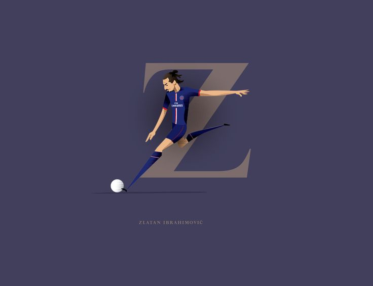 PSG และสวีเดนดาว Zlatan Ibrahimovic ภาพและการออกแบบประเภท daveflanagan …