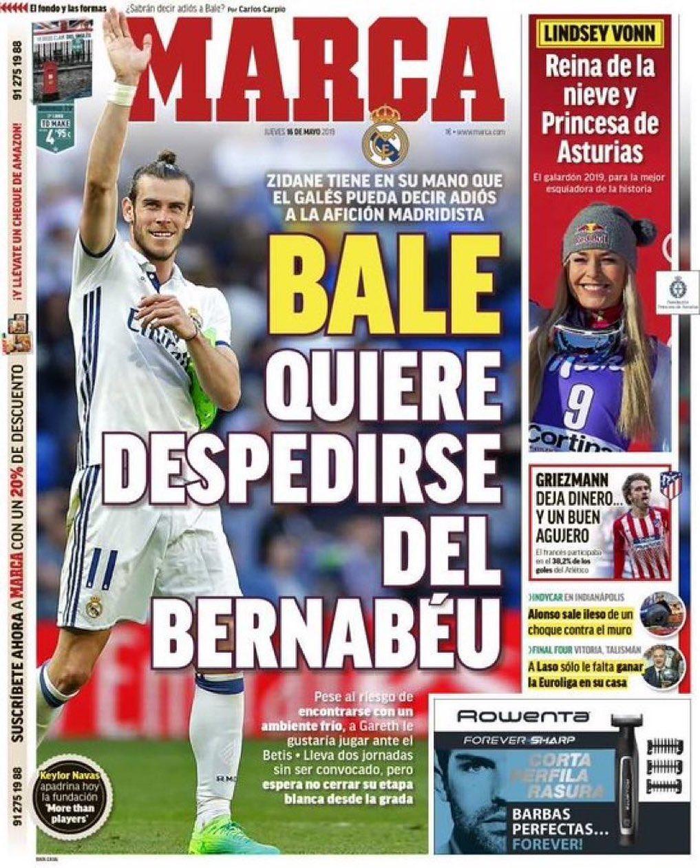 الماركا: بيليريدقولوداعاللبيرنابيو 0 0 0 0 0 #Realmadrid #benzema #zidane # …