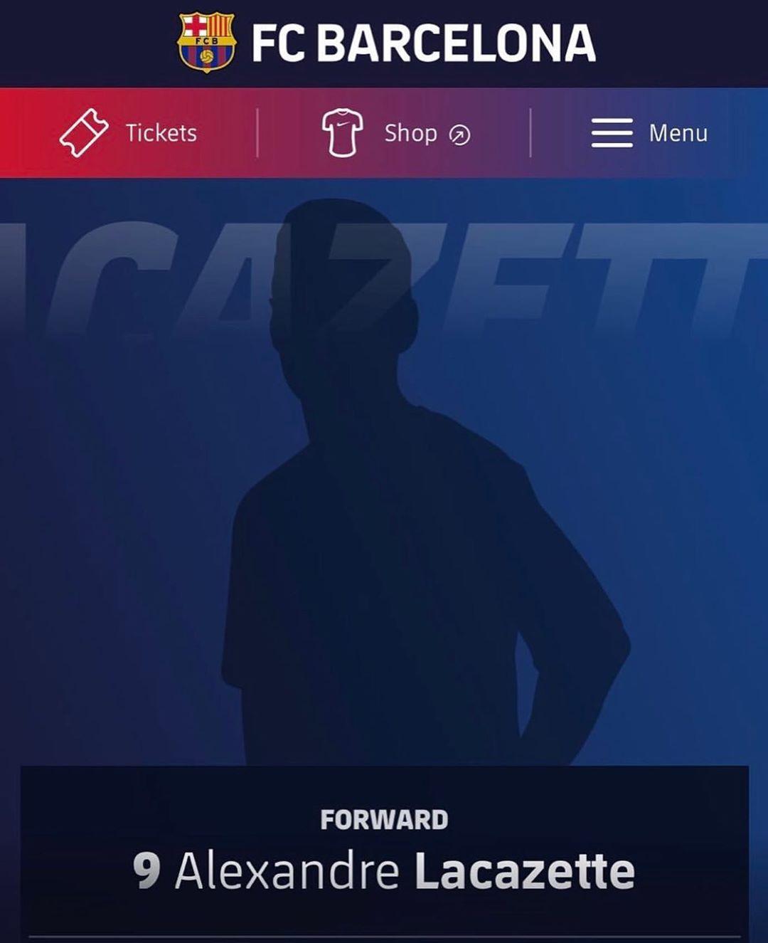 ความผิดพลาดในเว็บไซต์ Barca บันทึก Lacazette เป็นผู้เล่น – – # พรีเมียร์ชิพ # …