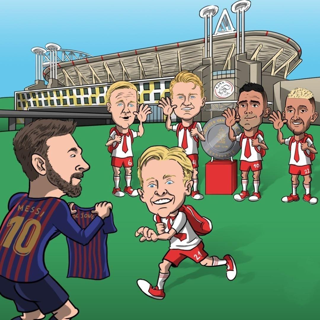 Frenkie de Jong จบการศึกษาจาก Ajax  #soccer #sports #sportsnews # treat …