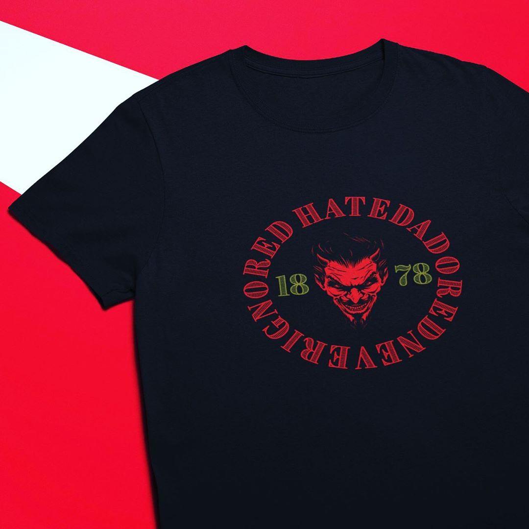 เสื้อยืดแฟนคลับสโมสรฟุตบอลแมนเชสเตอร์ยูไนเต็ดเกลียดที่ไม่เคยมองข้าม Man United Premium T …