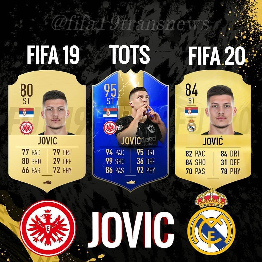 Jovic คือแนวคิดของบัตร FIFA 19 TOTS และ FIFA 20! คุณคิดว่าเขาจะย้าย …