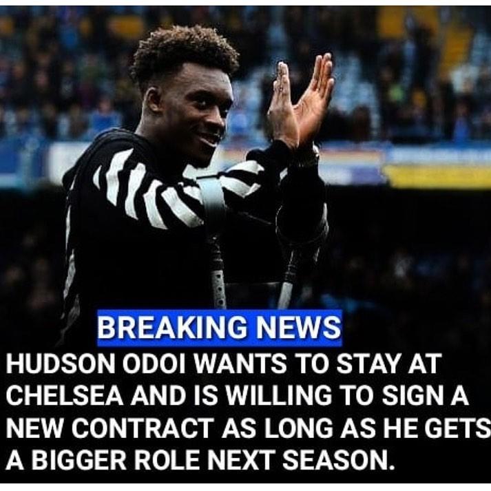 ข่าวใหม่: ดูเหมือนว่า Callum Hudson-Odoi อยากจะอยู่ที่ Chelsea และ …
