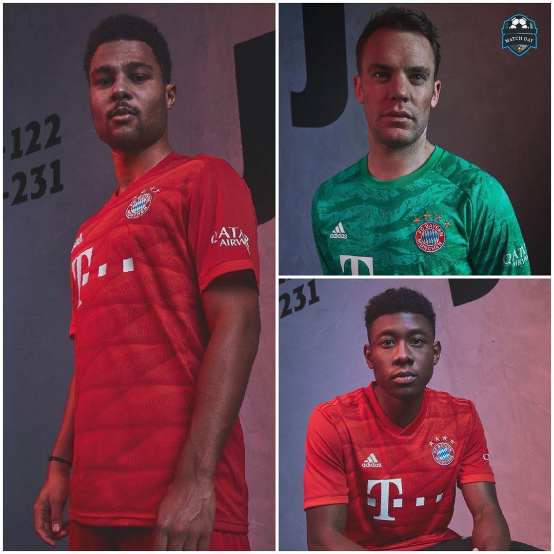 FC Bayern ได้เปิดตัวอุปกรณ์บ้านใหม่สำหรับฤดูกาล 2019/20  #soccer #spo …