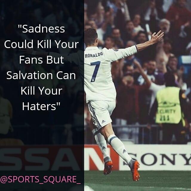 สำหรับคำพูดที่สร้างแรงบันดาลใจ . . ติดตาม @sports_square_ #cristianoronaldo #ronaldo # …