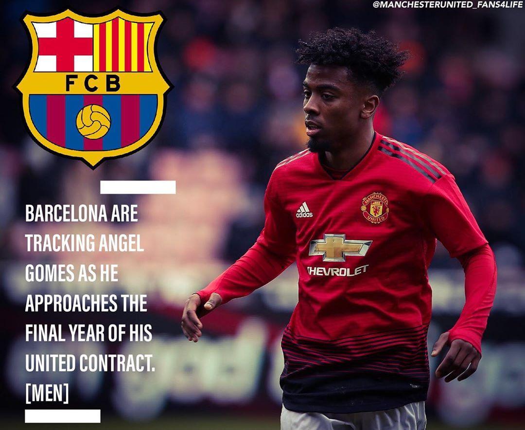 Barcelona เฝ้า Angel Gomes ขณะที่เขาเข้าใกล้ปีสุดท้ายของ United …