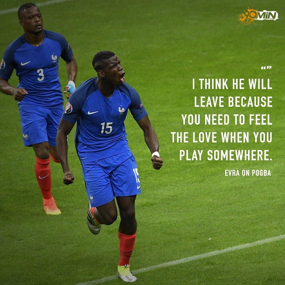 @ patrice.evra คิดว่า @paulpogba กำลังเกิดขึ้น! เขาจะไปไหน 🤔 – – – #Pogba #E …