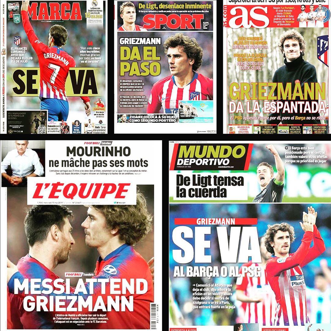 Antoine Griezmann กำลังจะออก‼ ออก‼ ️‼ ️สวัสดีบาร์เซโลนา! PSG! Ant # antoinegriezmann #griezm …