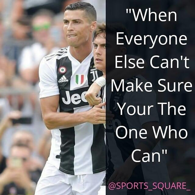 สำหรับคำพูดที่สร้างแรงบันดาลใจ . . ติดตาม @sports_square_ #cristianoronaldo #motivatio …