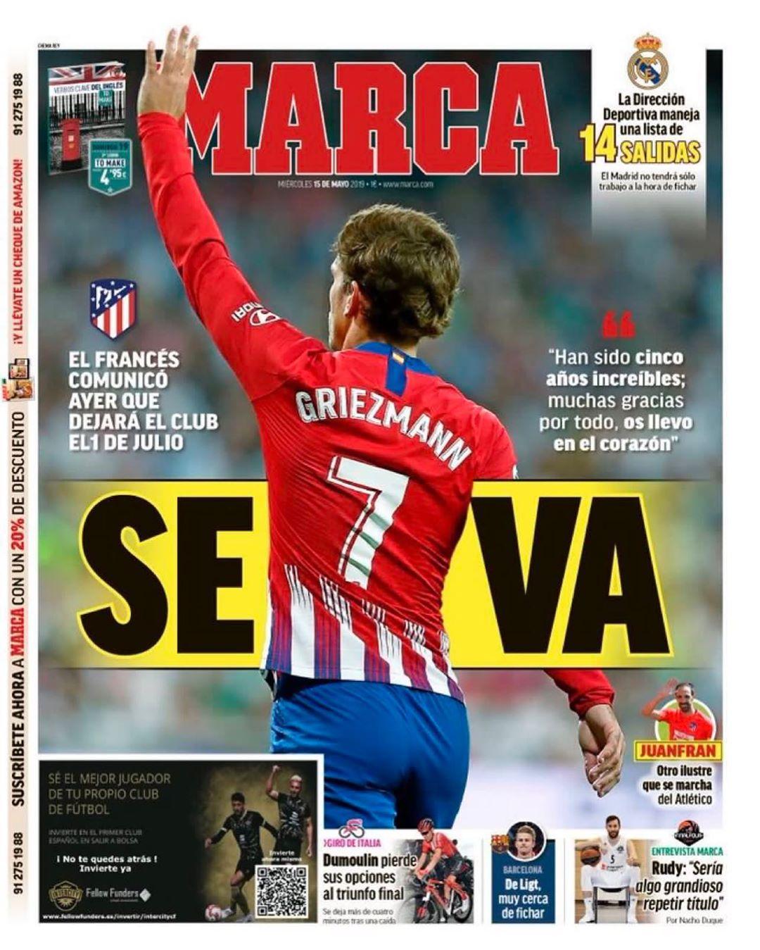 الماركا: غريزمانغغادر 0 0 0 0 0 #Realmadrid #benzema #zidane #cristiano #serg …