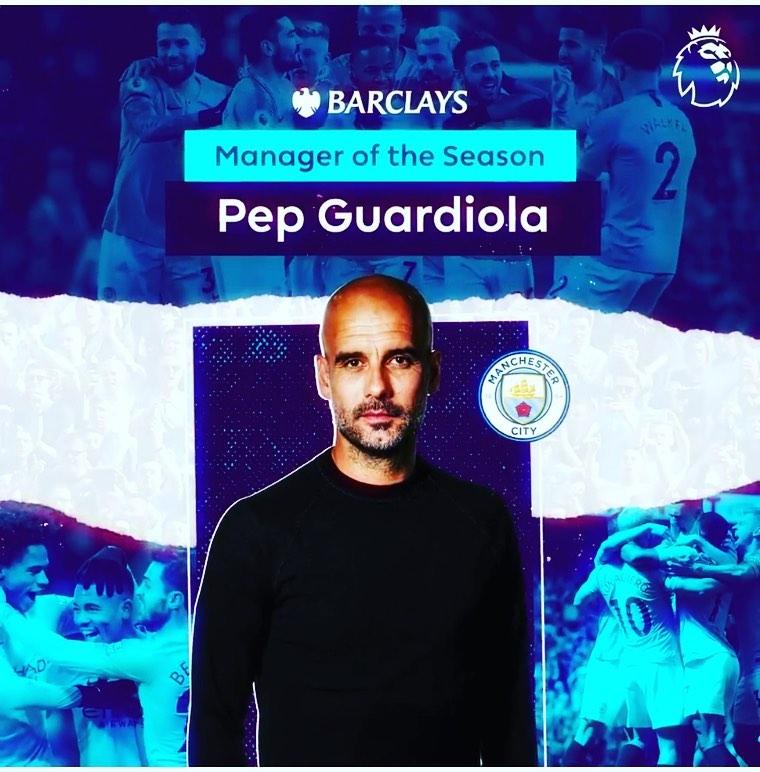 Pep Guardiola เป็นผู้อำนวยการของฤดูกาล #barcelona …