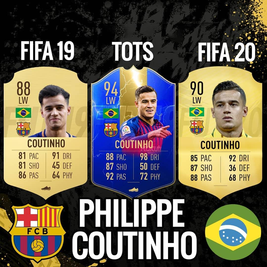 FIFA 19 TOTS แนวคิด Phillipe Coutinho คือ + การ์ด FIFA 20 ของเขา! คุณคิดว่า …