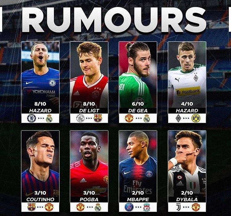 8 ข่าวลือที่จะเป็นจริงเหรอ? #EdenHazard #Chelsea #RealMadrid #DeLigt …