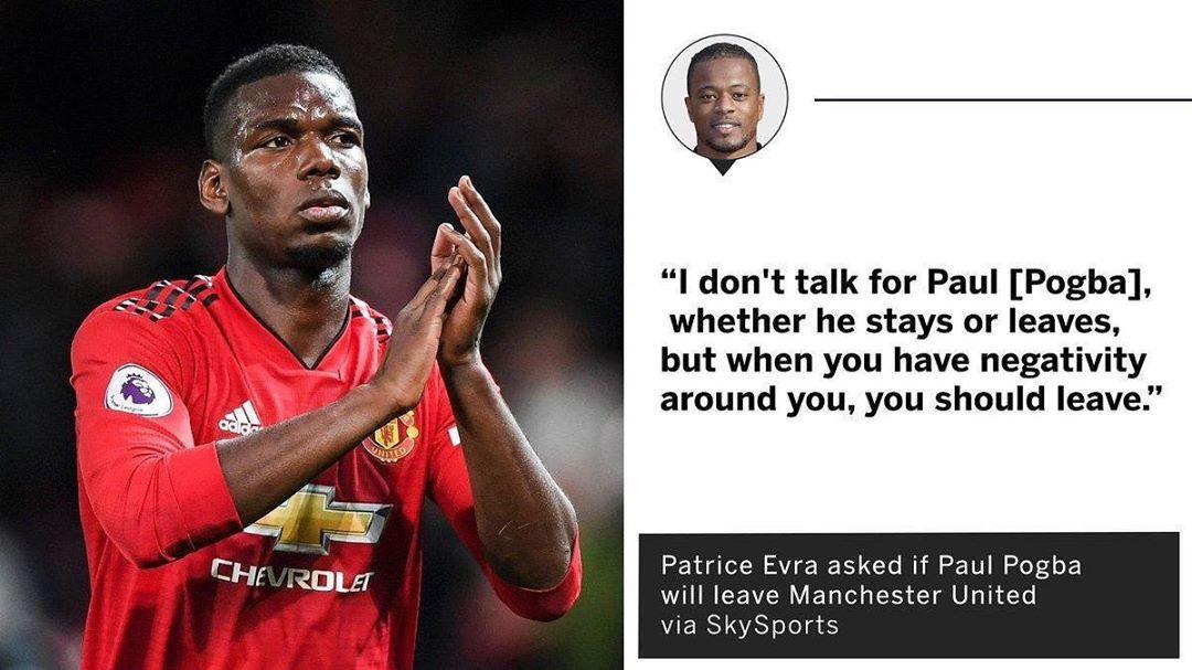 Patrice Evra เชื่อว่า Paul Pogba ควรปล่อย Man United #mufc #pogba #epl #premi …